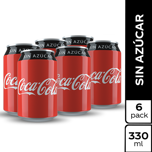 Coca-Cola Sin Azucar 330 ml lata 6 pack