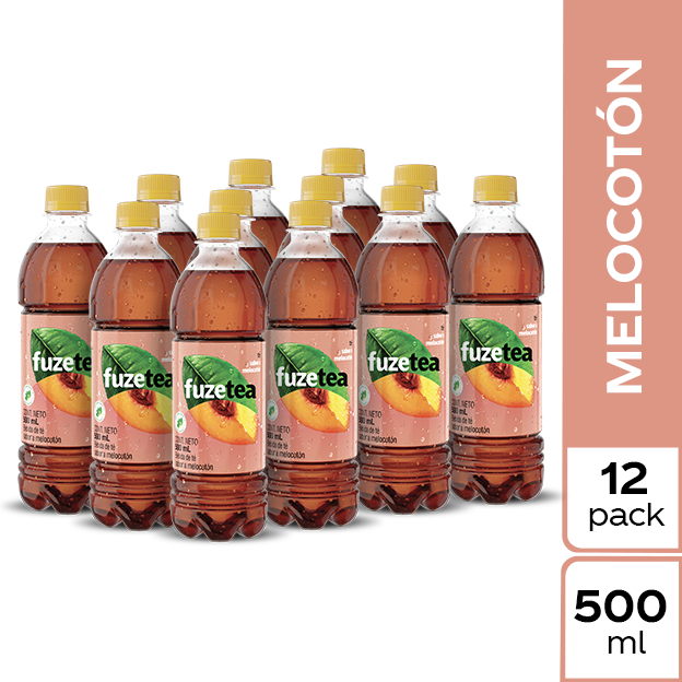 Fuze Tea Negro Melocotón 500 ml 12 pack